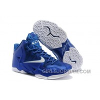 Nike LeBron James 11 Royal Blue/White For Sale Online