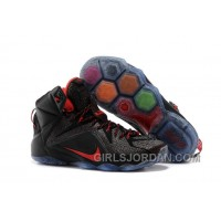 Nike LeBron 12 Black/Red Mens Basketball Shoes Discount
