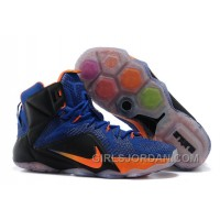 Nike LeBron 12 Hyper Blue/Black-Orange Mens Basketball Shoes Online