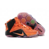 Nike LeBron 12 Team Orange/Black Mens Basketball Shoes Cheap To Buy