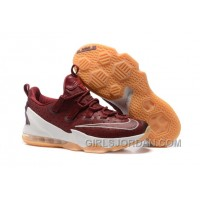"2017 Nike LeBron 13 Low ""Cavs"" Mens Basketball Shoes Christmas Deals"
