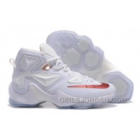 Nike LeBron 13 White/Wine PE Mens Basketball Shoes Free Shipping