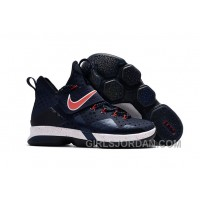 Nike LeBron 14 SBR Navy Blue Red Lastest