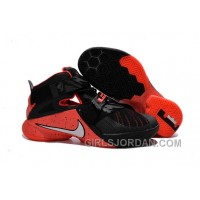Nike LeBron Soldier 9 Black Red Mens Basketball Shoes For Sale