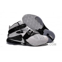 Nike LeBron Soldier 9 White Black Mens Basketball Shoes Christmas Deals