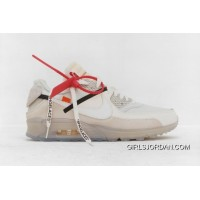 39-46 Sku Aa7293-100 Off-White X Nike Air Max 90 Ofw Off90 Joint Limited Classic Zoom Running Shoes Authentic