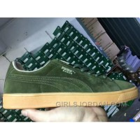 PUMA SPORTSTYLE SUEDE Gum Outsole Green Men New Style
