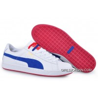 Puma Basket II Sneakers WhiteBlueRed For Sale
