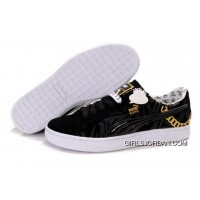 Puma Basket Shoes BlackWhiteGold Best