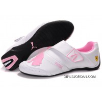 Women's Puma Baylee Future Cat II In White/Pink Free Shipping