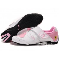 Women's Puma Baylee Future Cat II In White/Pink New Style