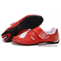 Men's Puma Baylee Future Cat II In Red/White New Release