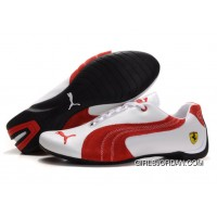 Puma Engine Cat Low Shoes White/Red For Sale