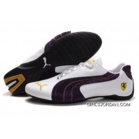 Puma Engine Cat Low Shoes White/Purple New Release