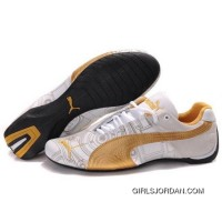 Puma Engine Cat Low Shoes In White Gold For Sale