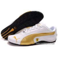 Women's Puma Ferrari In White/Gold/Black Authentic