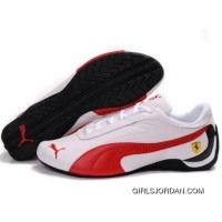 Puma Future Cat GT Ferrari Sculptural Shoes In White Red Super Deals