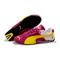 Puma Ferrari Edition Shoes Plum Purple/Beige/Yellow New Release