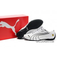 Ferrari Future Cat M1 Shoes White/Black Lastest