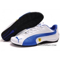 Men's Puma Ferrari In White/Blue/Black Lastest