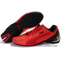 Mens Puma Fluxion In Red/Black New Release