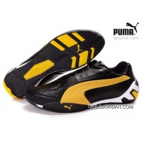 Puma Fluxion Shoes Black/Yellow/White 903 Free Shipping