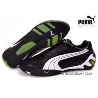 Puma Fluxion Shoes Black/White/Green 903 Discount