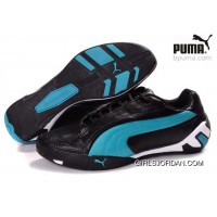 Puma Fluxion Shoes Black/White/Blue 903 Super Deals