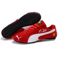Men's Puma Fur In Red/White/Black New Style