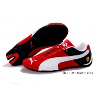 Men's Puma Fur In Red/White/Black Discount