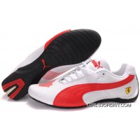 Women's Puma Future Cat Big Ferrari White/Red Super Deals