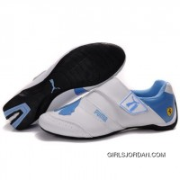 Women's Puma Baylee Future Cat In White-University Blue Free Shipping