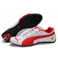 Women's Puma Future Cat GT Ferrari White/Red Copuon Code