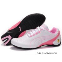 Women's Puma Future Cat M1 In White-Pink Top Deals