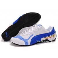 Women's Puma Future Cat Low In White/Blue Super Deals