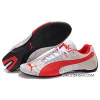 Men's Puma Future Cat Carve In Red/White Free Shipping