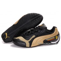 Men's Puma Future Cat Low In Black/Golden New Style