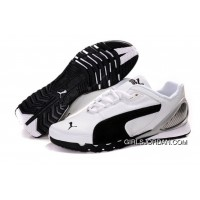 Women's Puma Grit Cat III White/ Black/Gray Authentic
