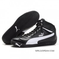 Puma Michael Schumacher High Tops Black White New Style