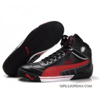 Puma Michael Schumacher High Tops Black Red New Release
