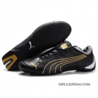 Men's Puma 10th Anniversary Metal Racing Shoes Black Golden Cheap To Buy