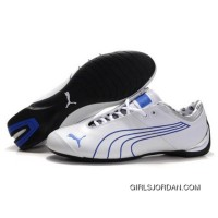 Men's Puma 10th Anniversary Metal Racing Shoes White Blue I Super Deals