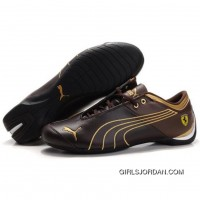 Men's Puma 10th Anniversary Metal Racing Shoes Chocolate Golden Free Shipping
