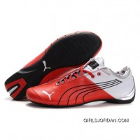 Men's Puma 10th Anniversary Metal Racing Shoes White Red II Cheap To Buy