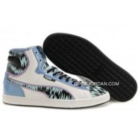 Mens Puma First Round In White-Blue New Style