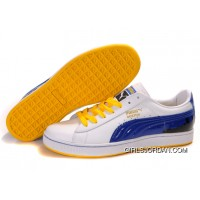 Puma New Style City Series White/Blue/Yellow Top Deals
