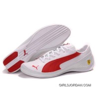 Puma SF Pace Cat IV In White-Red Cheap To Buy