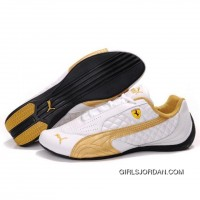 Puma SF Pace Cat II In White-Gold Cheap To Buy