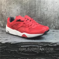 Puma R698 Classic Vintage Running Shoes Red White Discount