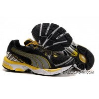 2010 Puma Running Shoes In Black/Yellow Lastest